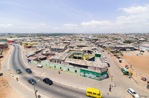 Accra From Above Stock Photo - Download Image Now