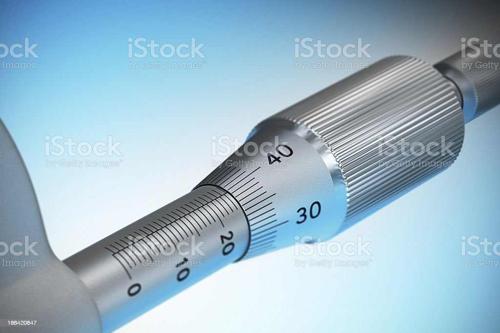Accuracy - Dimensional Control, Micrometer royalty-free stock photo