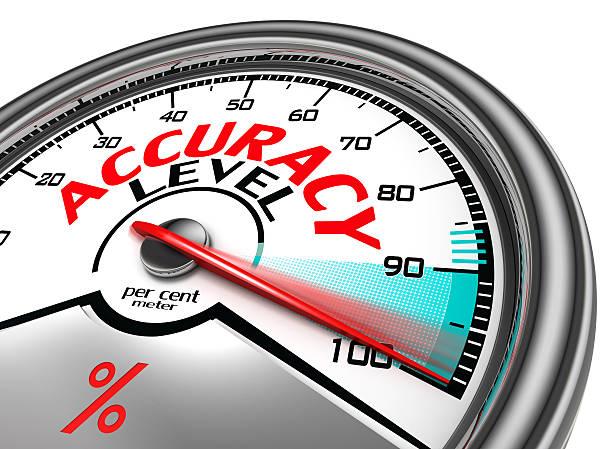 accuracy level conceptual meter stock photo