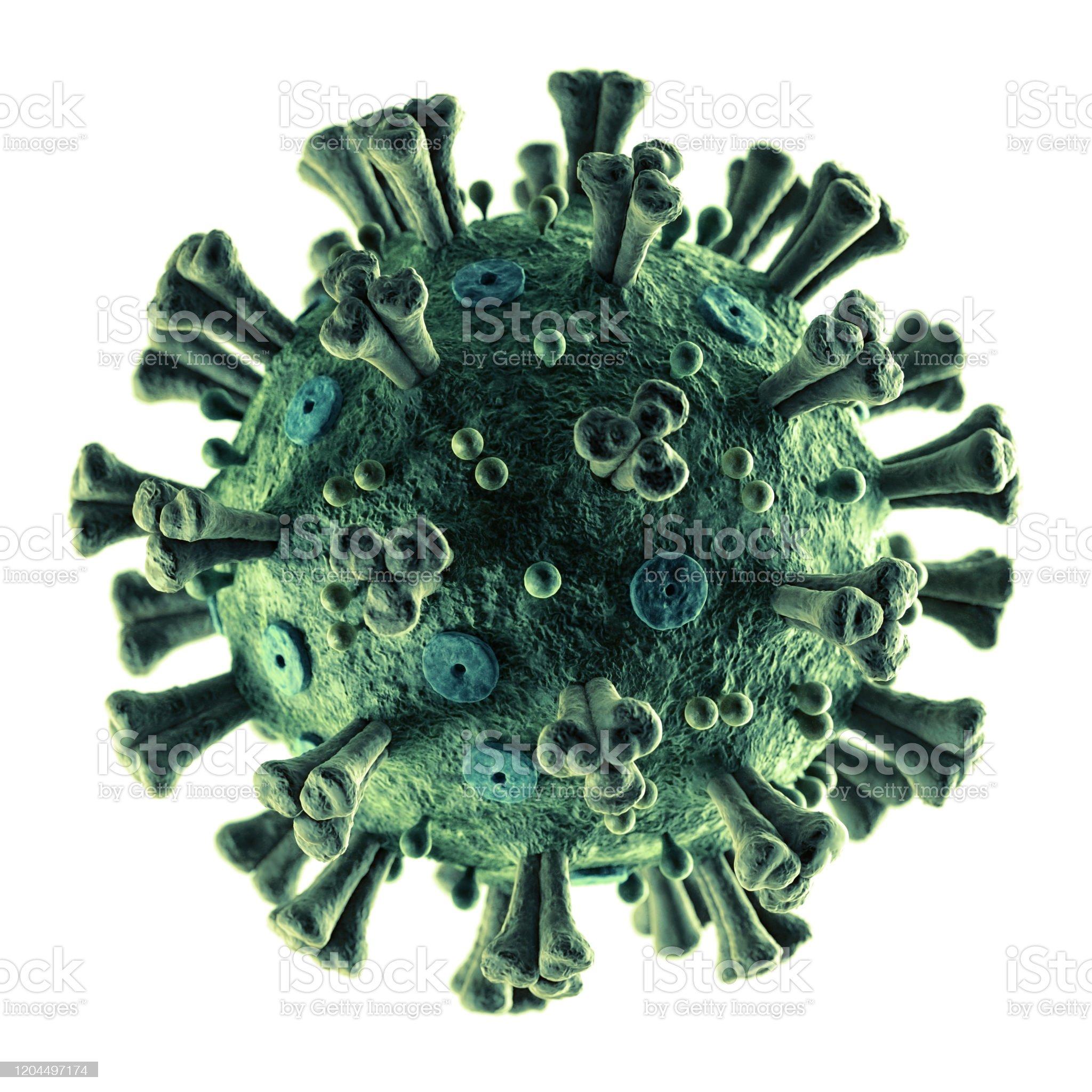 Coronavirus 2019-nCoV preciso em branco - Foto de stock de Coronavírus royalty-free