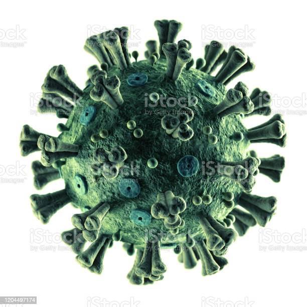 Accurate Coronavirus 2019ncov On White Stock Photo - Download Image Now