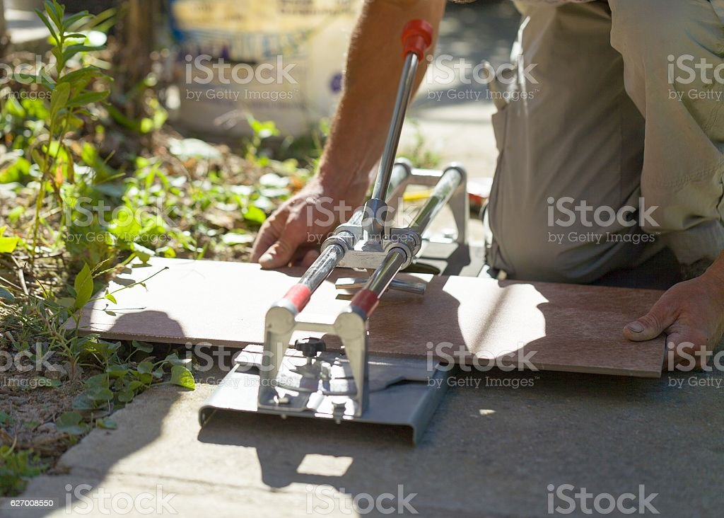 Accurate male work stock photo
