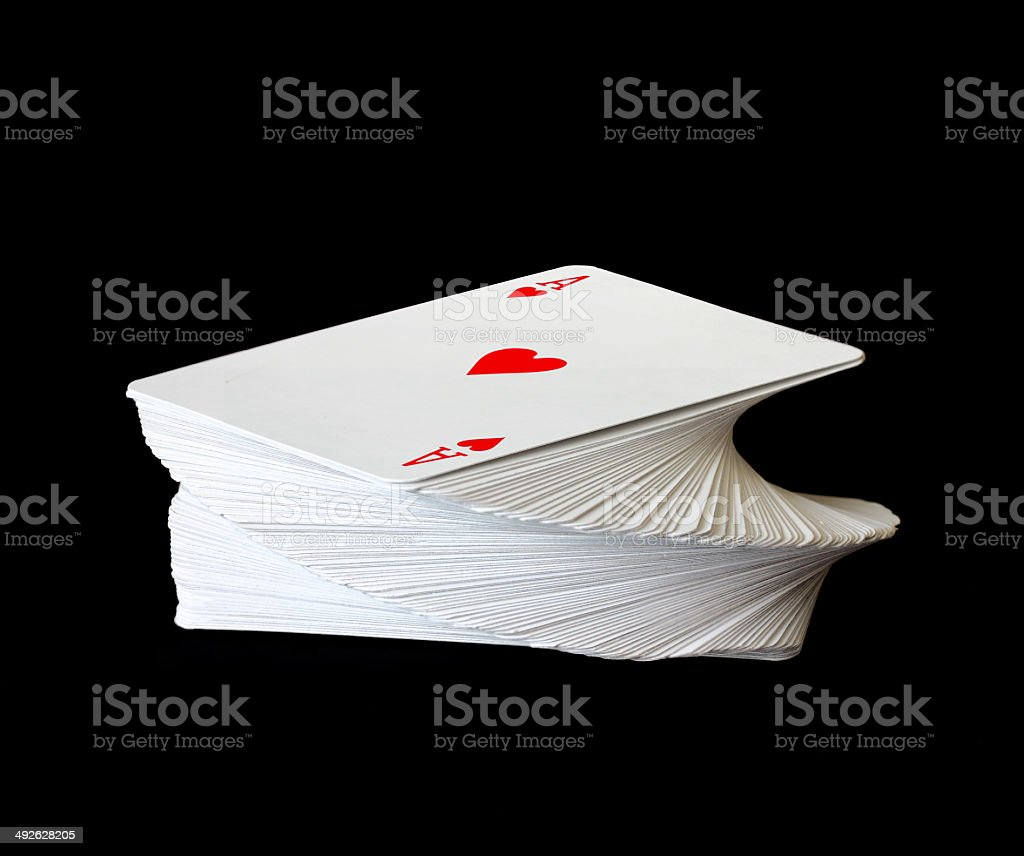 ace cards on top stock photo