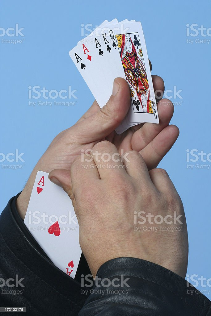 Ace from sleeve royalty-free stock photo