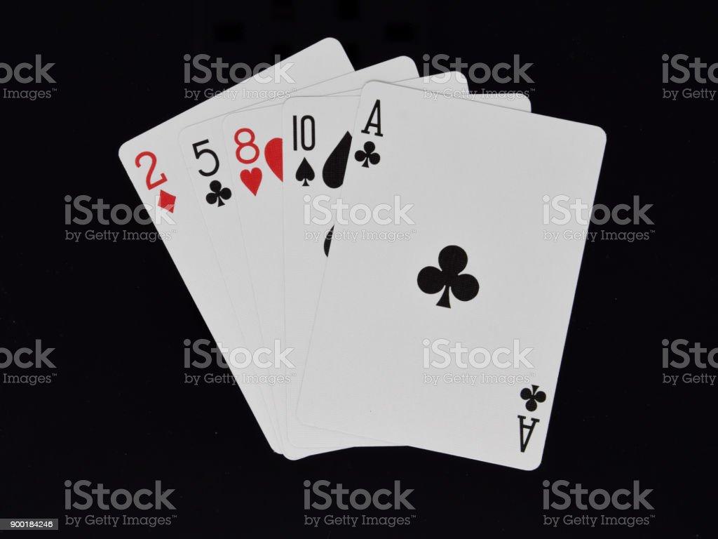 Mano Alta Ace En El Juego De Cartas De Poker Foto De Stock Y Mas Banco De Imagenes De Carta Naipe Istock