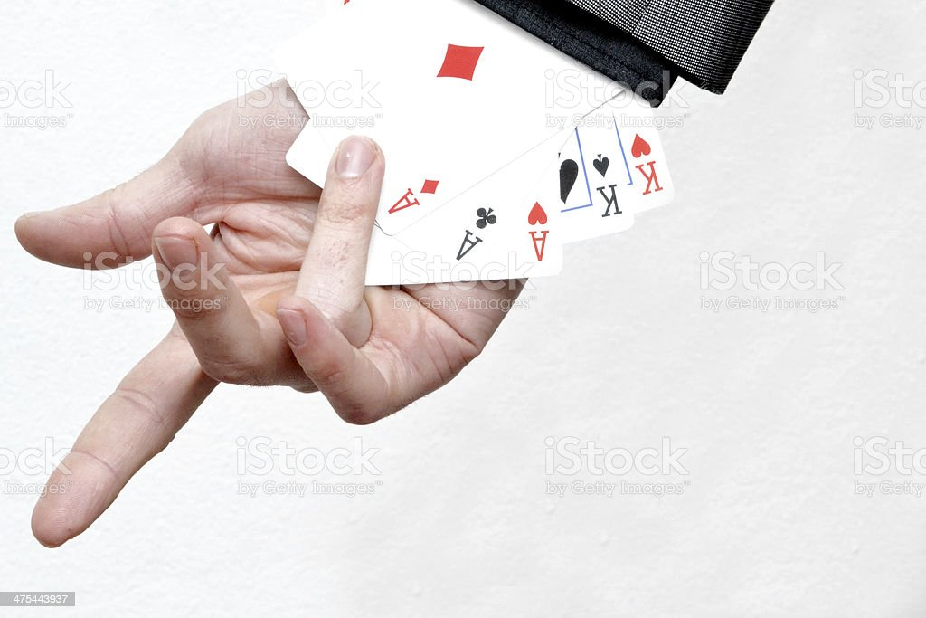 Ace in the pocket of the jacket stock photo