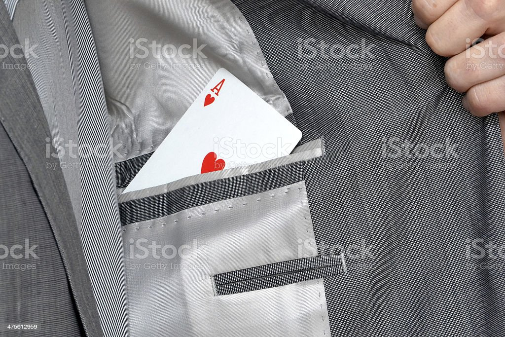 Ace in the pocket stock photo
