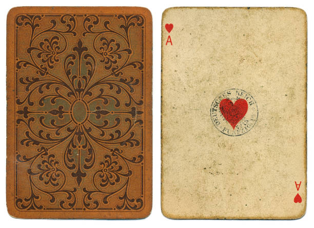 Ace of hearts antique worn card by Dondorf around 1900 – zdjęcie
