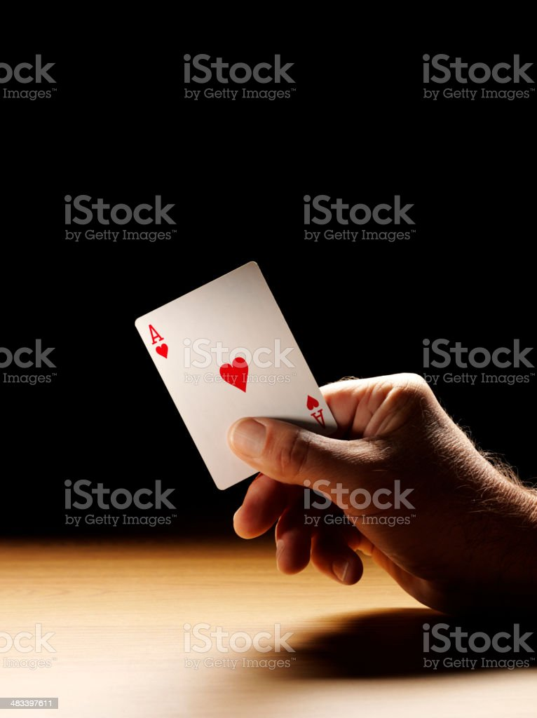 Ace of Hearts from a Deck of Cards stock photo