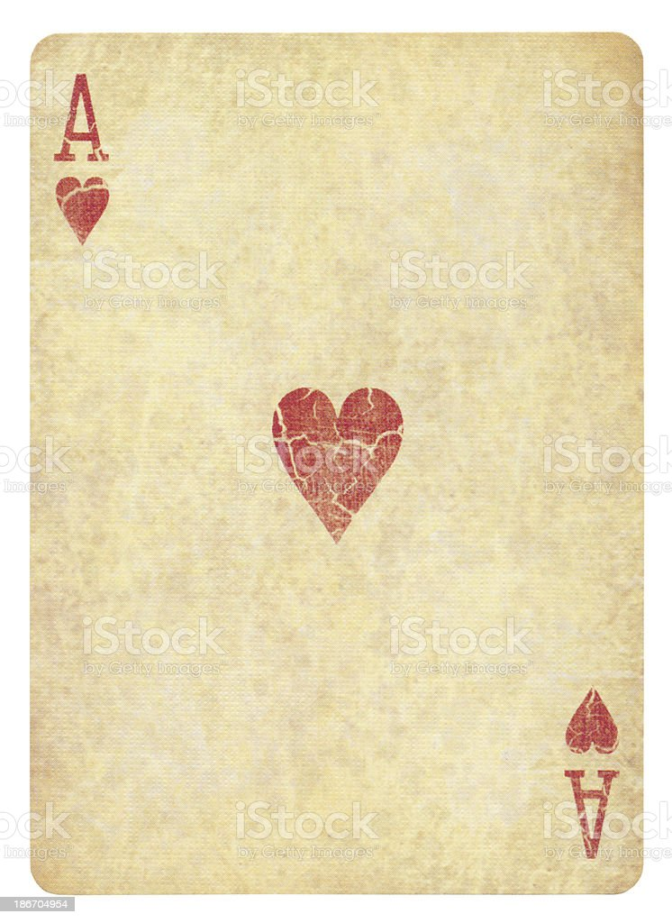 Ace Of Hearts Isolated (clipping path included) royalty-free stock photo