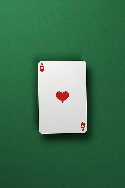 Ace of Hearts stock photo