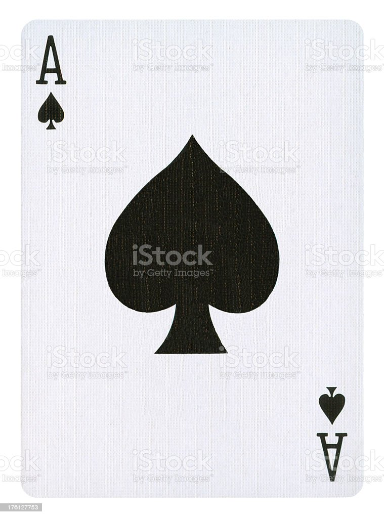 Ace Of Spades Isolated (clipping path included) stock photo
