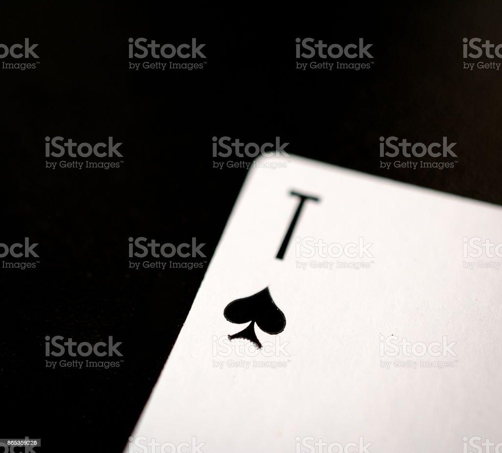 Ace of spades on a black background – zdjęcie