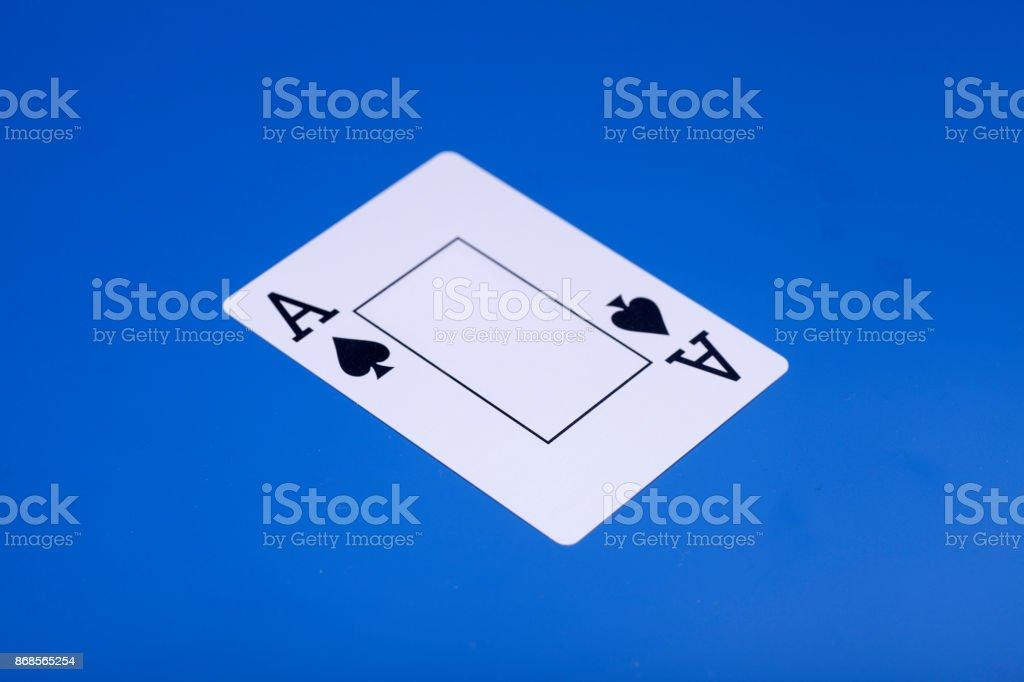 Ace of spades playing card – zdjęcie
