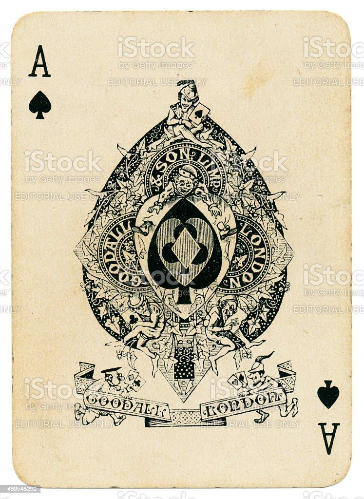 Cartes à jouer l'as de pique de coronation 1902 pack - Photo