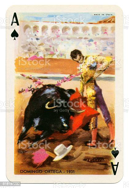 Baraja Taurina bullfighter Ace of Spades 1965