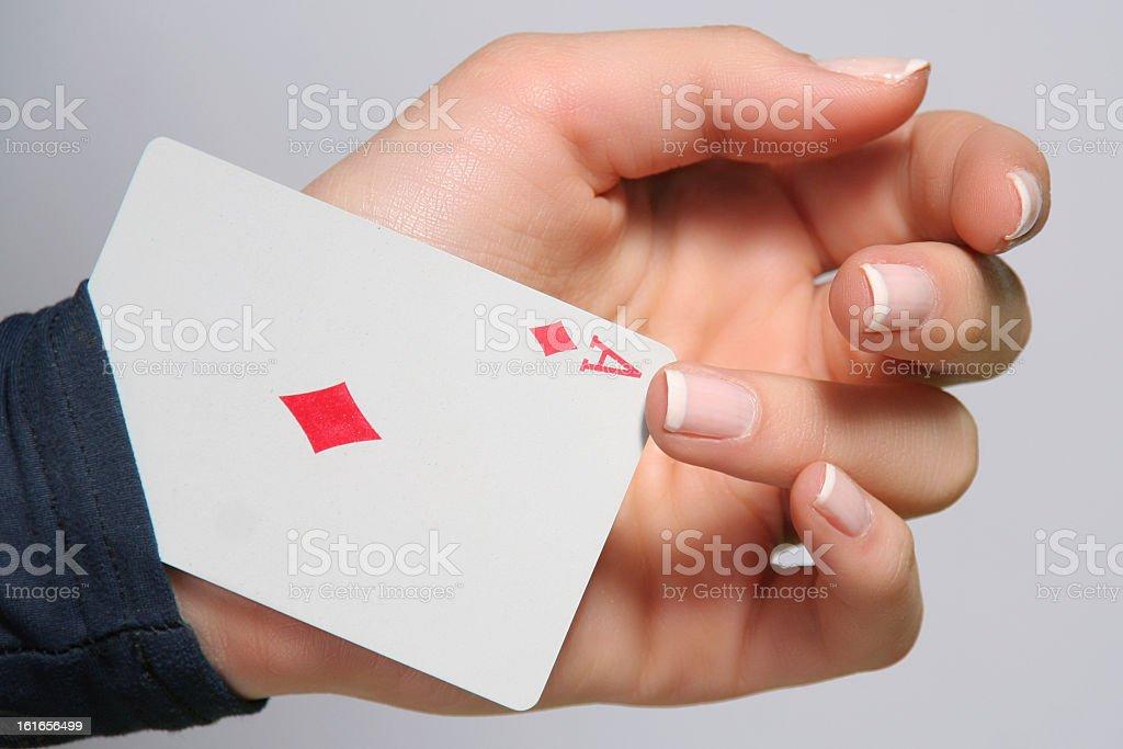 Ace up Sleeve stock photo