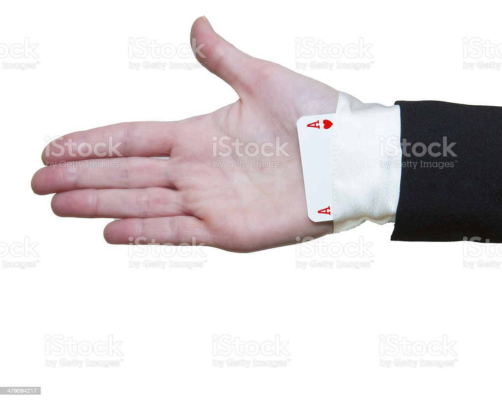 Ace Up The Sleeve stock photo
