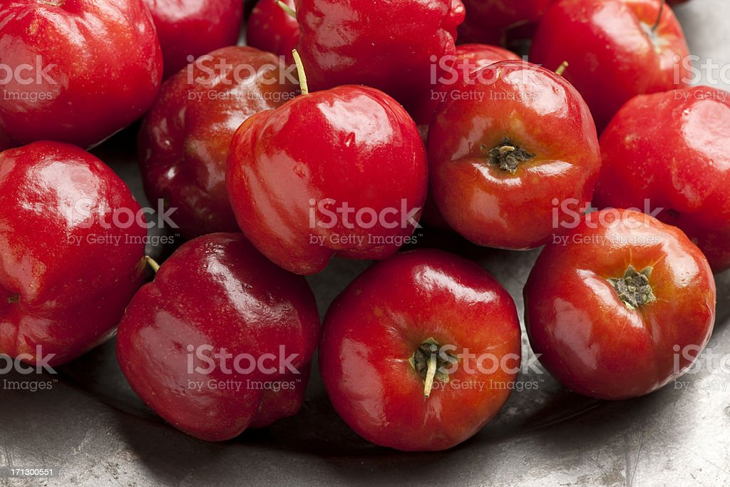 Acerola cherry fruit. stock photo