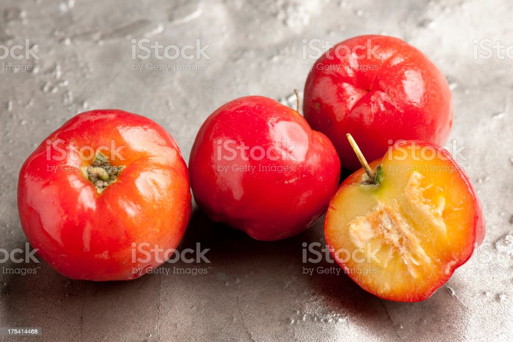 Acerola cherry fruit stock photo