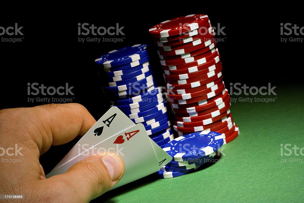Aces bet royalty-free stock photo