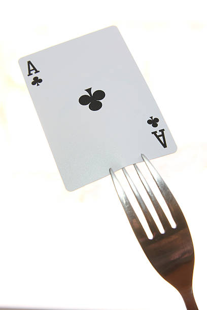 aces of clubs stock photo
