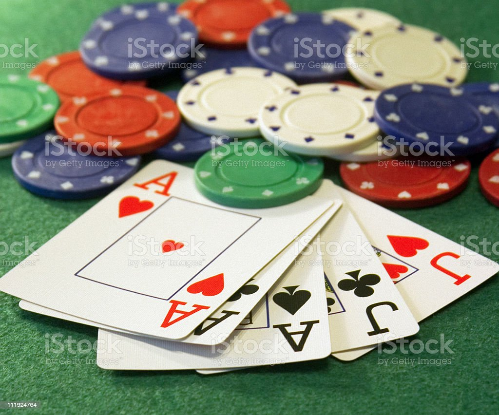 Aces Over Jacks - Full House stock photo
