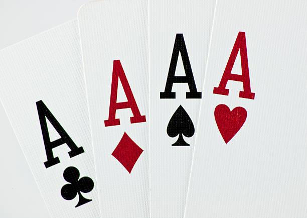 Aces stock photo