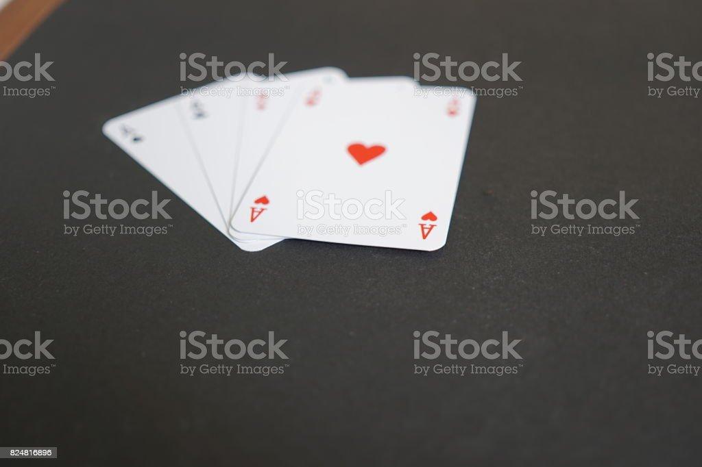 Cartes de poker Aces. Mise au point sélective - Photo