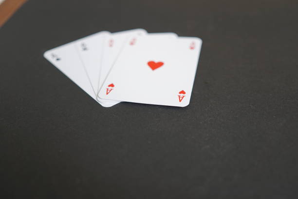 Aces poker cards. Selective focus stock photo