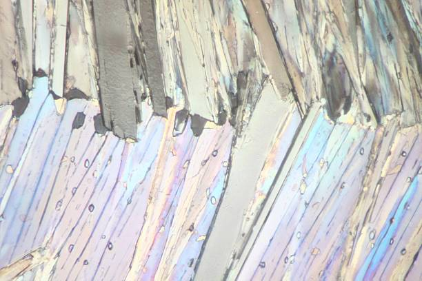 Acetaminophen under the microscope This is a picture of the crystals of a chemical substance made by a microscope in polarized light. scientific micrograph stock pictures, royalty-free photos & images