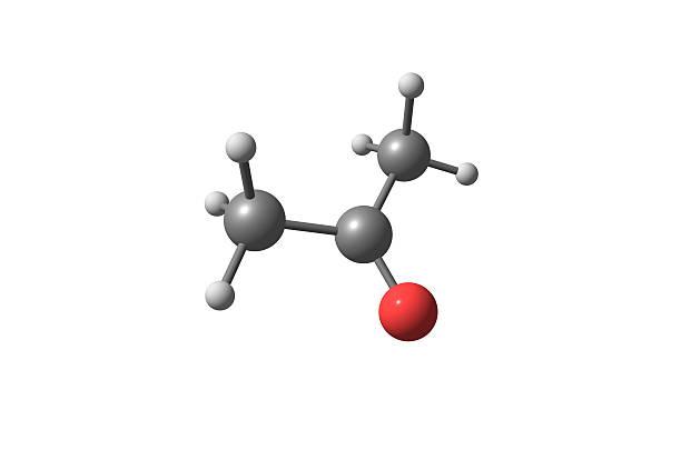 Aceton strukturze molekularnej na białym tle – zdjęcie