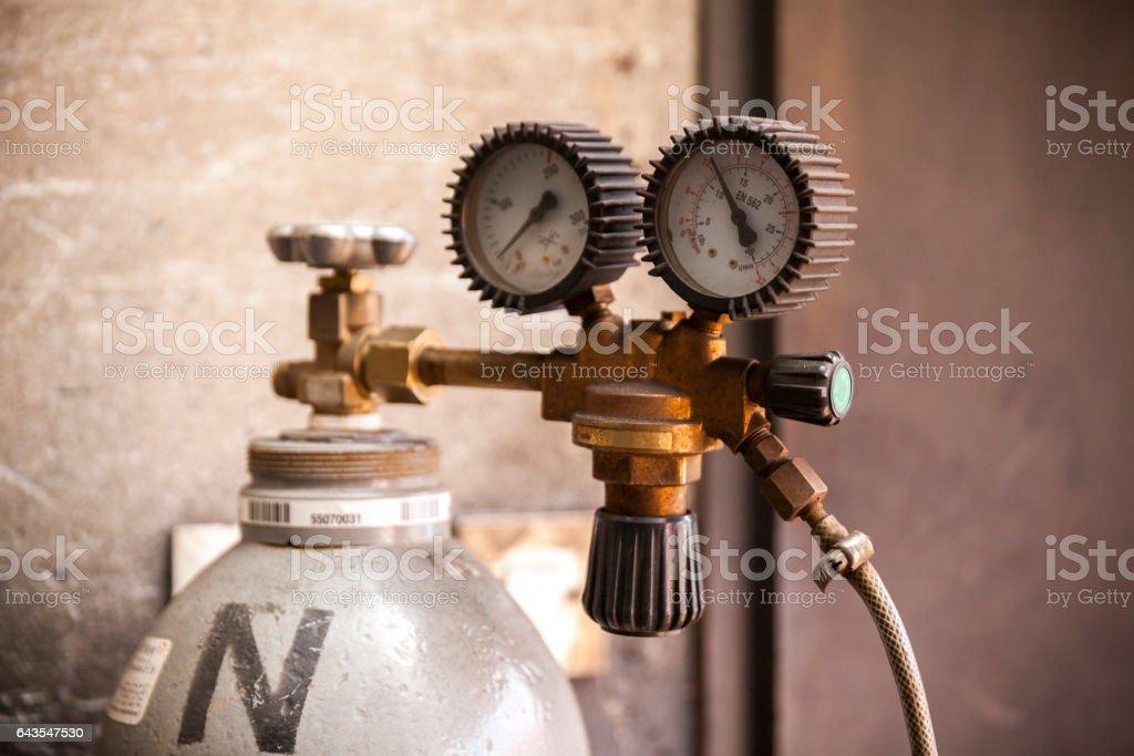 acetylene bottle stock photo