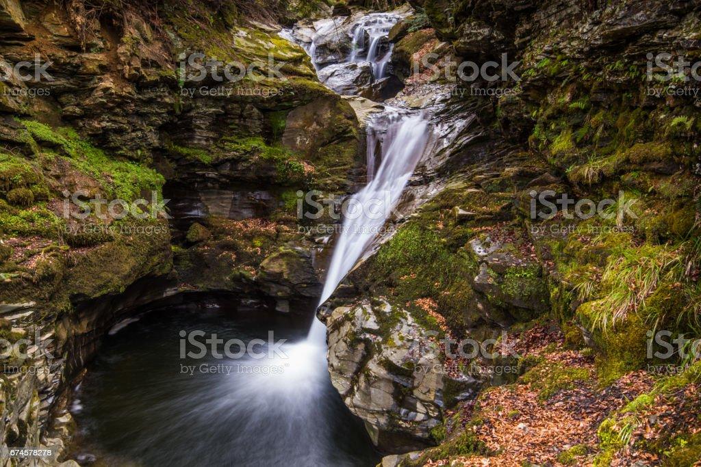 Acharn Falls Perthshire stock photo