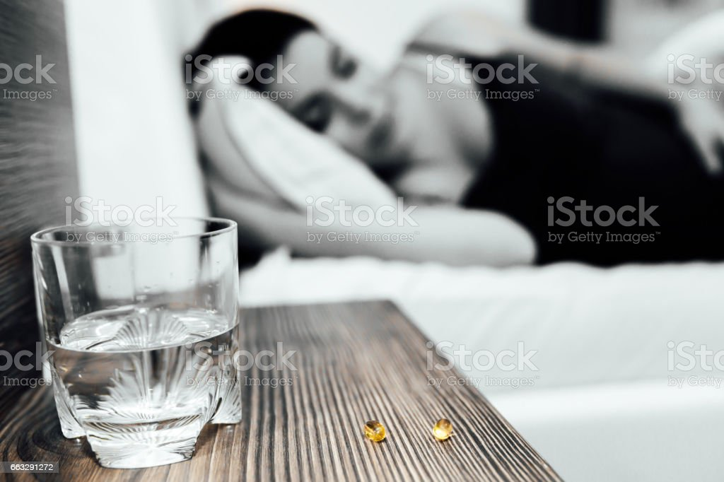 Ache pills during pregnancy are not uncommon stock photo