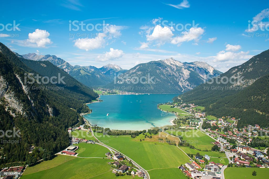 Achensee, bird view stock photo