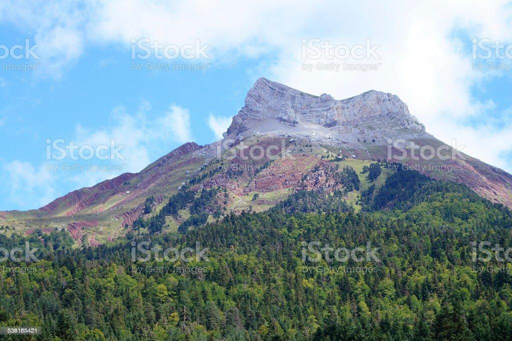 Acher castle peak stock photo