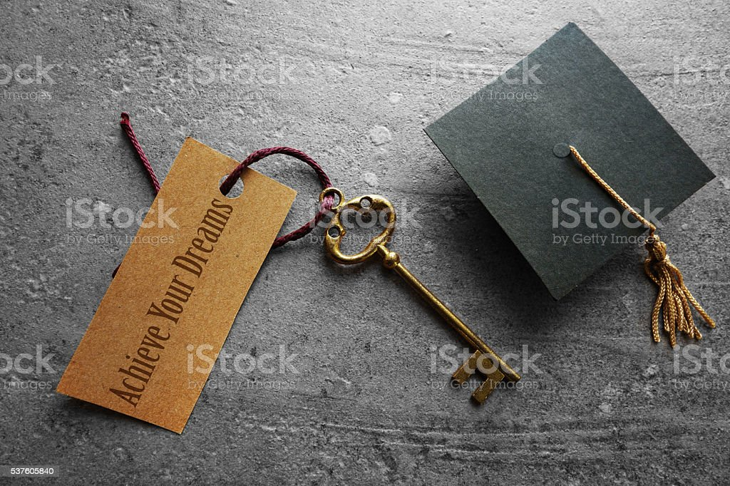 Achieve Your Dreams through education stock photo