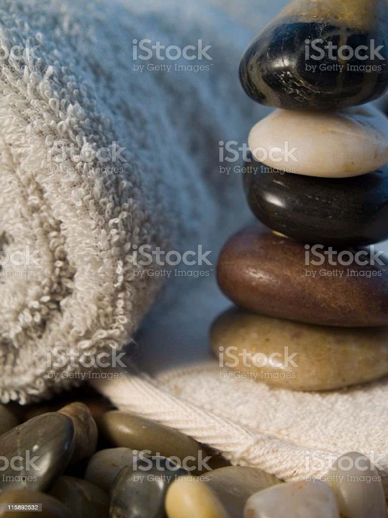 achieving balance and peace stock photo