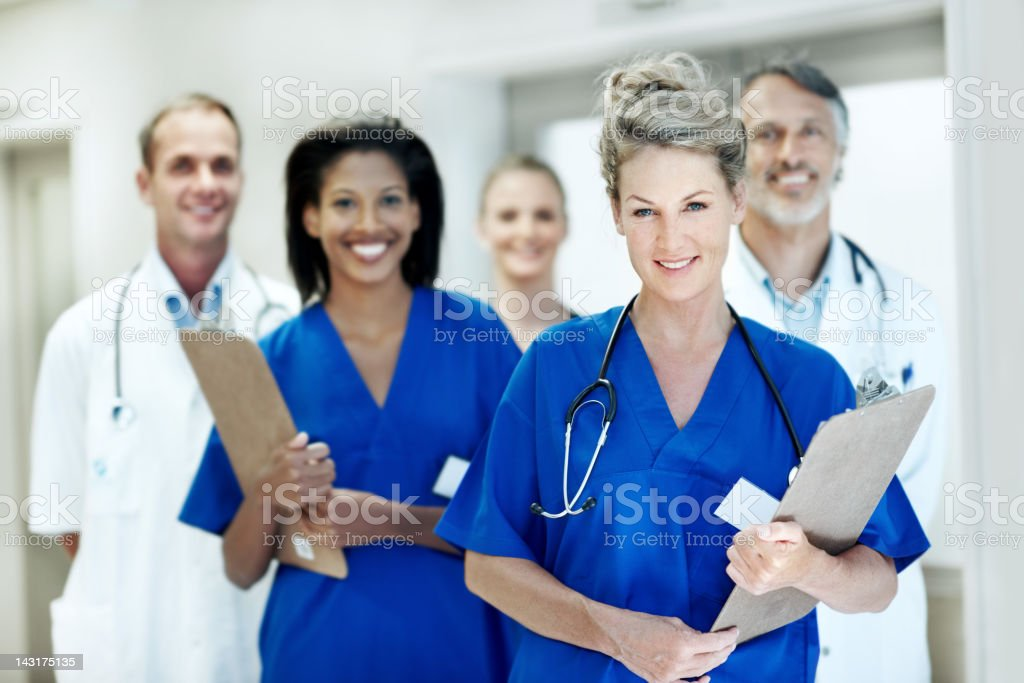 Achieving higher standards with my team royalty-free stock photo