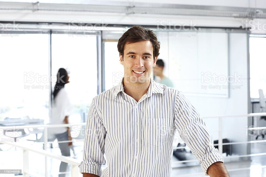 Achieving success with his work ethic royalty-free stock photo