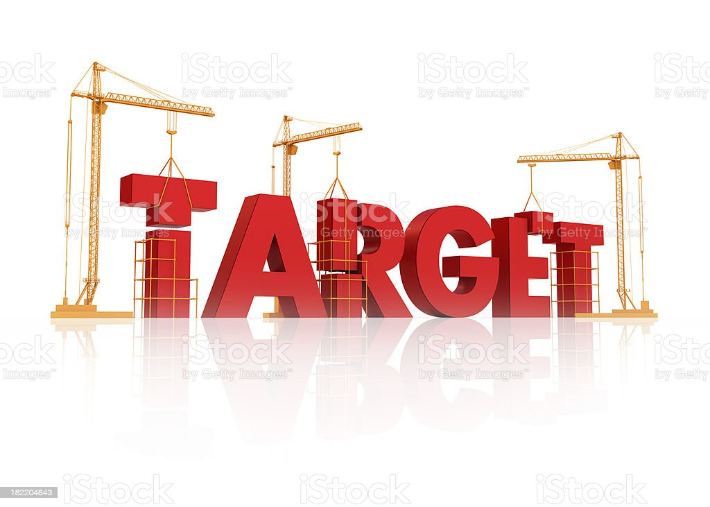 achieving target royalty-free stock photo