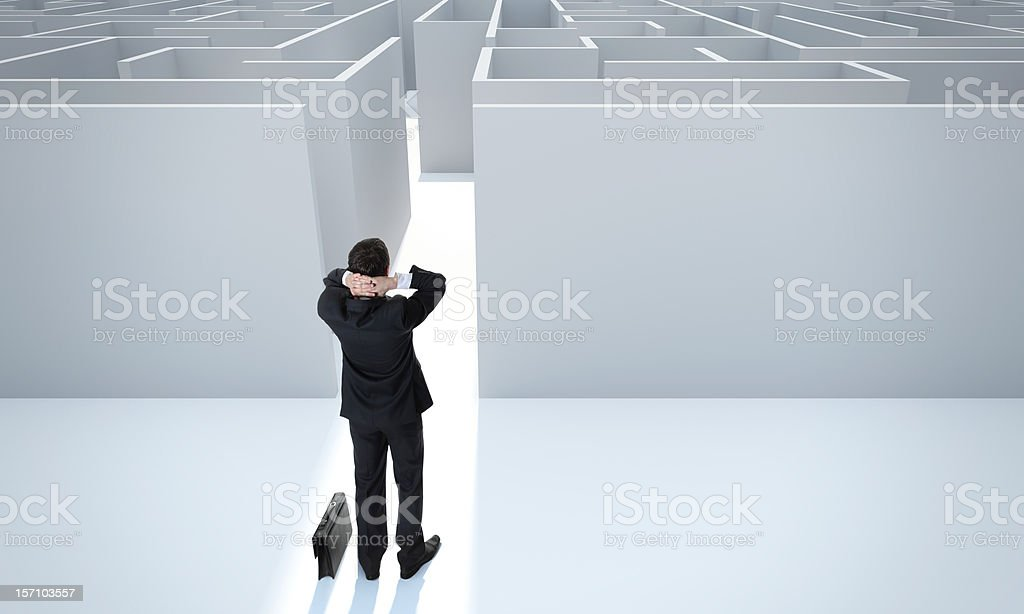 Achieving the goal. Make a difficult decision. stock photo