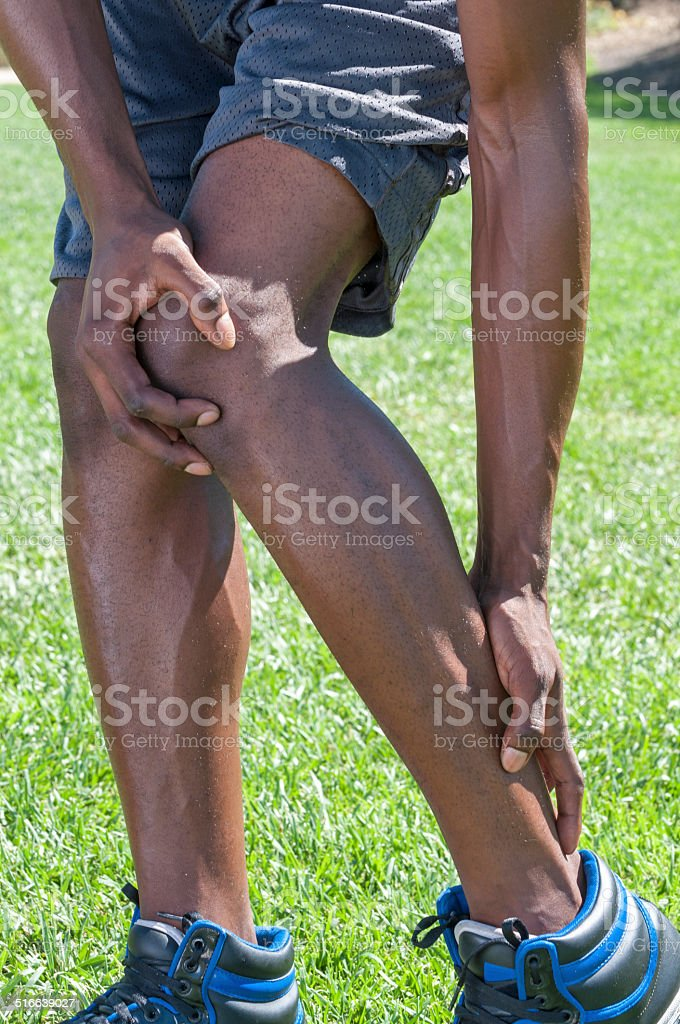 Achilles tendinitis stock photo