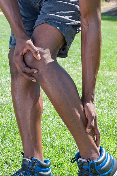 Achilles tendinitis stock photo