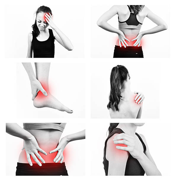 aching parts of body - low section stock photos and pictures
