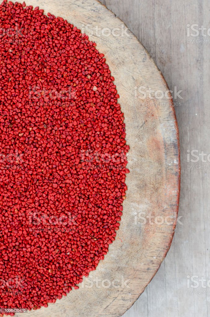 Achiote or annatto stock photo