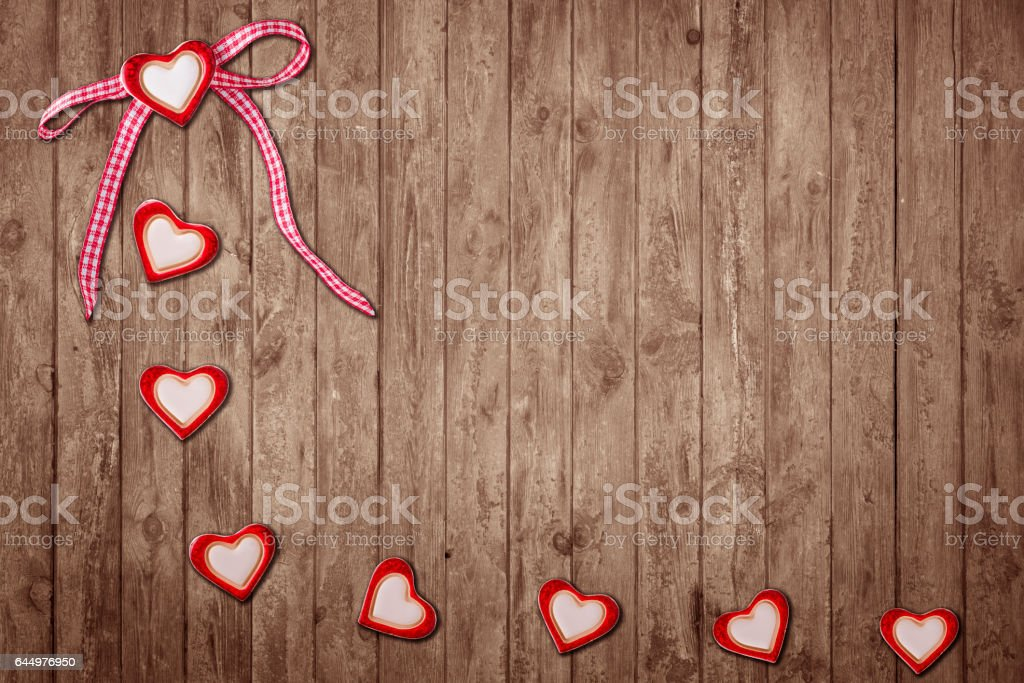 Acht Herzen stock photo