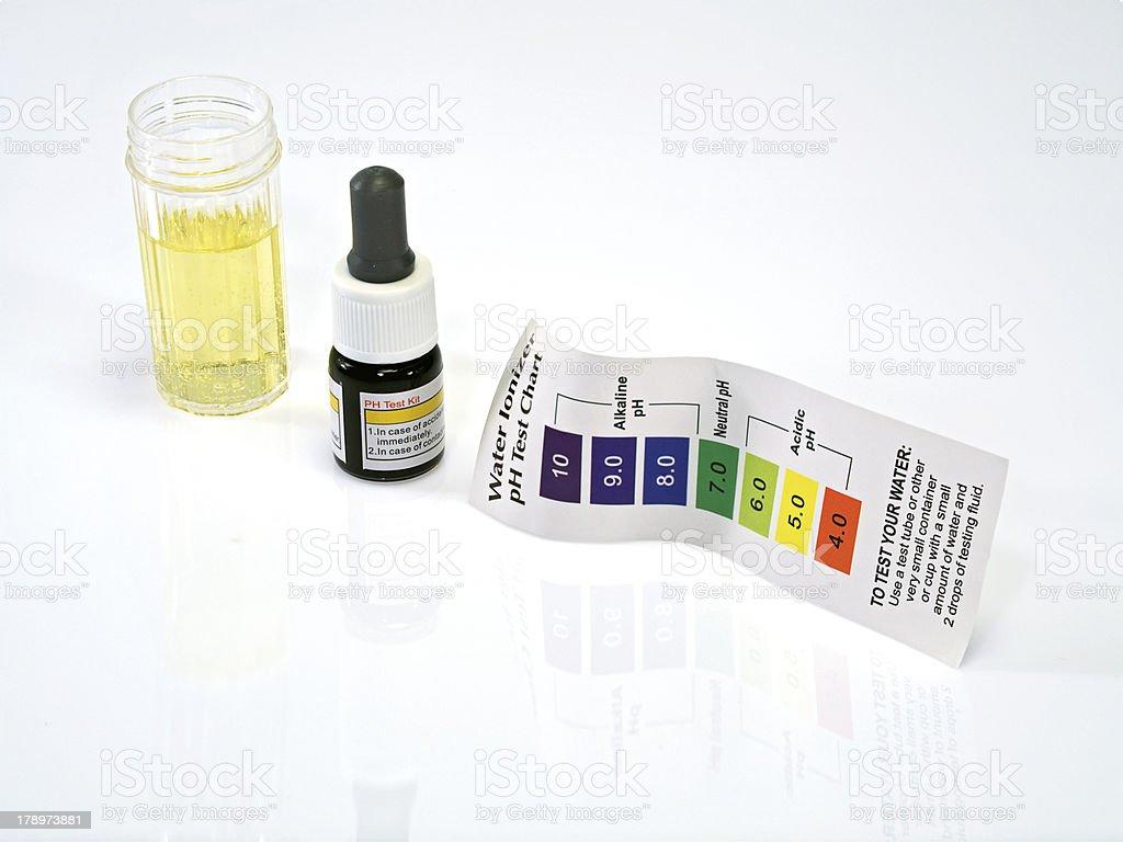 Acid acidic water test ph reagent stock photo