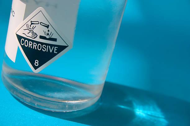 Botella de ácido - foto de stock